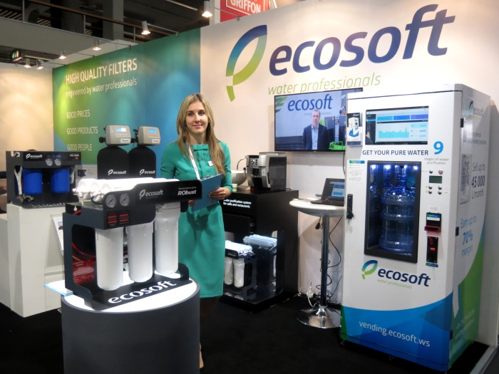 Máy lọc nước Ecosoft nhập khẩu từ Đức dự triển lãm Aqua