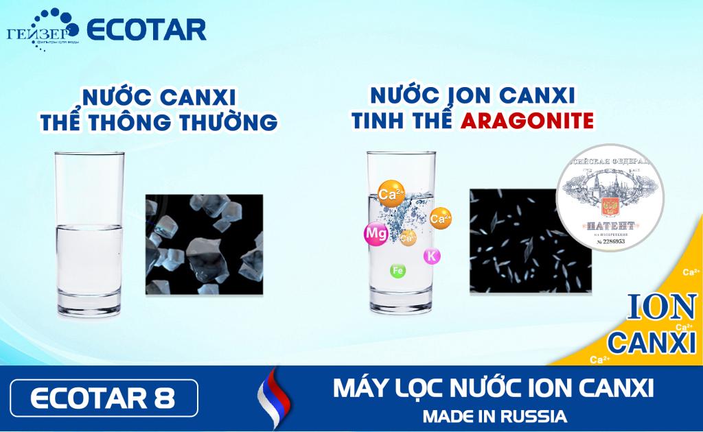 Máy lọc nước Geyser Ion canxi tăng cường hấp thụ khoáng chất của cơ thể