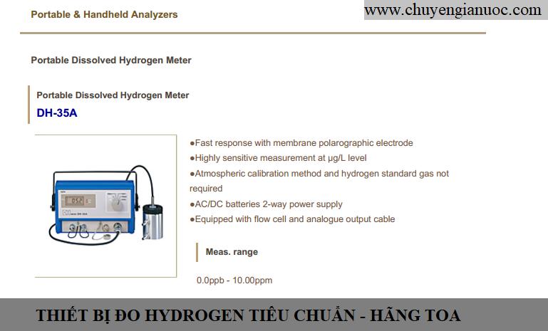Thiết bị đo hydrogen tiêu chuẩn